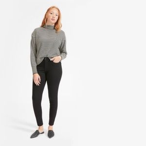 Everlane hi waisted skinny jeans, faded black, 27